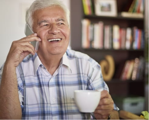 Man having a cup of tea